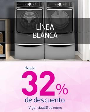Línea Blanca hasta 32% de descuento