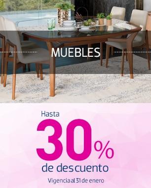 Muebles hasta 30% de descuento